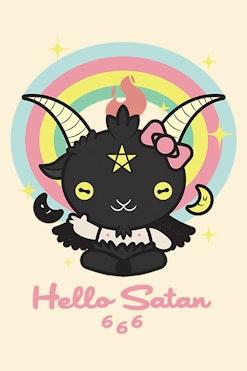 Camiseta Hello Satan R$74,90 | 4x de R$18,73
