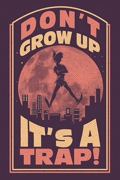 Camiseta Don't Grow Up R$69,90   4x de R$17,48