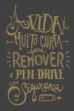 Estampa Camiseta Pen Drive