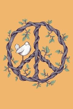 Estampa Camiseta Peace