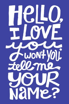 Estampa Camiseta Hello, I Love You