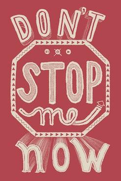 Camiseta Don't Stop Me Now R$74,90   4x de R$18,73