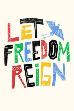 Estampa Camiseta Let Freedom Reign