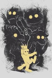 Estampa Camiseta Onde Vivem os Monstros