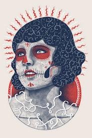 Estampa Camiseta Lady Skull