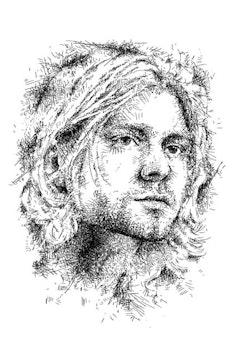 Estampa Camiseta Kurt Cobain