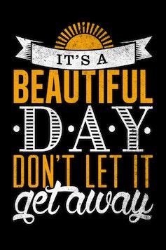 Estampa Camiseta Beautiful Day