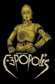 Estampa Camiseta C-3PO