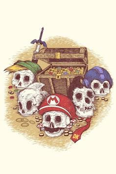 Estampa Camiseta Tesouro dos Games