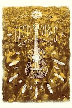 Estampa Camiseta Good Vibes