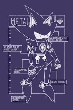 Estampa Camiseta Metal Sonic