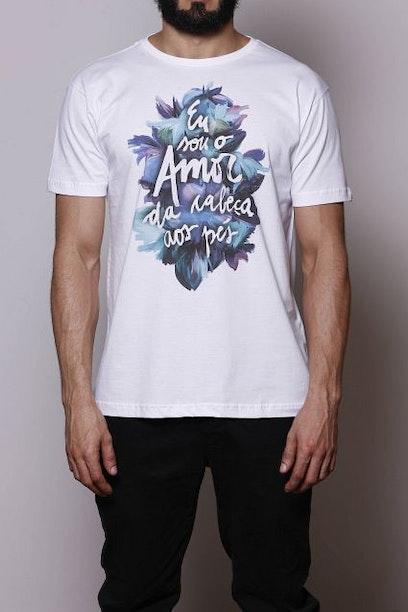 Camiseta Amor da Cabeça aos Pés - Chico Rei 07313ddc5a3