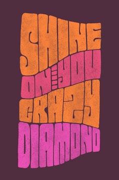 Estampa Camiseta Shine On You Crazy Diamond