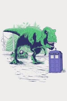 Estampa Camiseta Jurassic Who