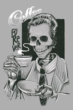 Estampa Camiseta Coffee Forever
