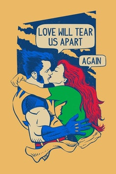Estampa Camiseta Love Will Tear Us Apart