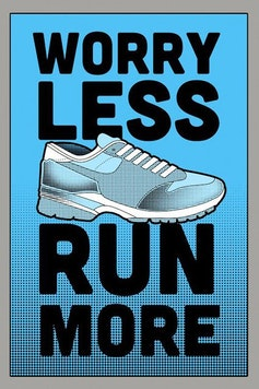 Estampa Camiseta Run More