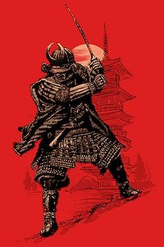 Estampa Camiseta Samurai