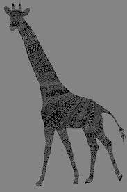 Estampa Camiseta Girafa
