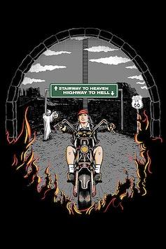 Estampa Camiseta Way to Rock