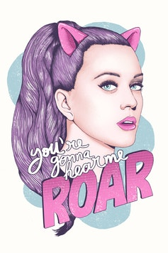 Estampa Camiseta Hear me Roar