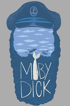 Estampa Camiseta Moby Dick