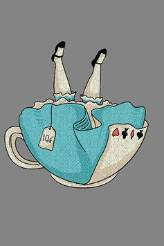 Estampa Camiseta Alice