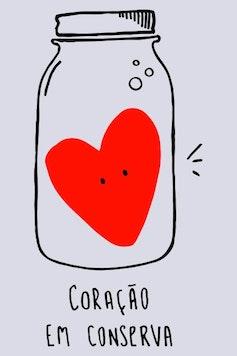 Estampa Camiseta Coração em Conserva