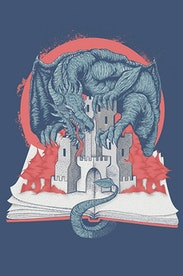 Estampa Camiseta Fantasy Book