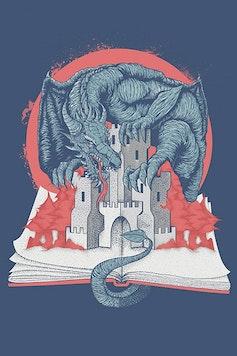 Estampa Camiseta Fantasy Book