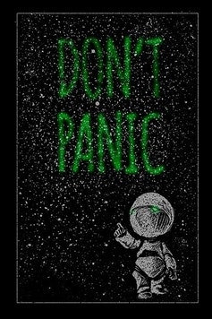 Estampa Camiseta Don't Panic