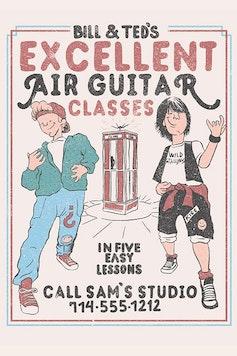 Estampa Camiseta Air Guitar Classes