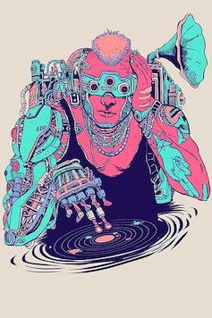Estampa Camiseta Cyberpunk