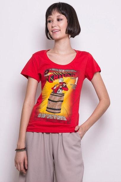 Camiseta Polegar Vermelho