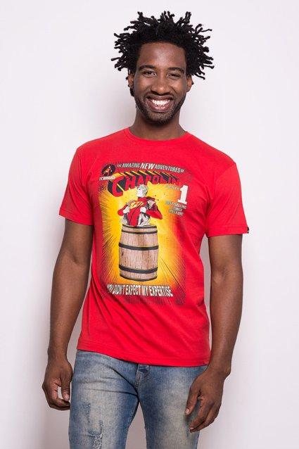 Camiseta Camiseta Polegar Vermelho