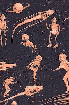 Estampa Camiseta Retrofuturism