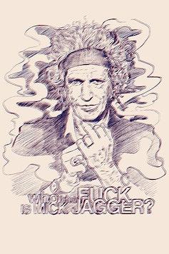 Estampa Camiseta Mick Jagger