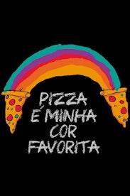 Estampa Camiseta Rainbow Pizza