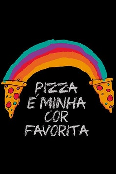 Estampa Camiseta Rainbow Pizza