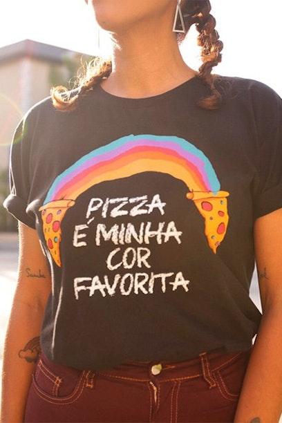 Camiseta Rainbow Pizza