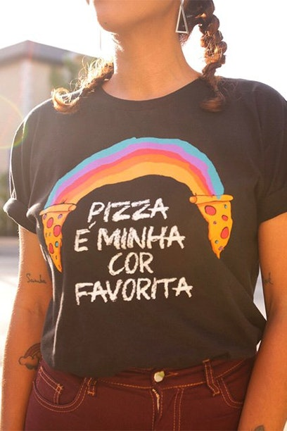 Camiseta Rainbow Pizza