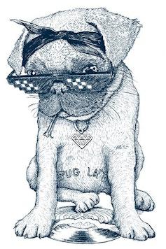 Estampa Camiseta Pug Life