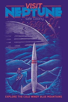 Estampa Camiseta Neptune