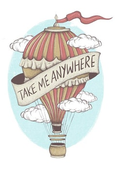 Estampa Camiseta Take Me Anywhere