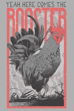 Estampa Camiseta Here Comes The Rooster