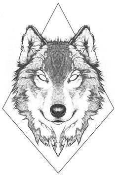 Estampa Camiseta Inked Wolf