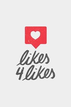 Estampa Camiseta Likes 4 Likes