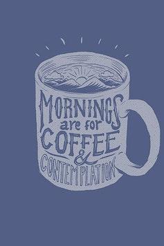 Estampa Camiseta Coffee & Contemplation