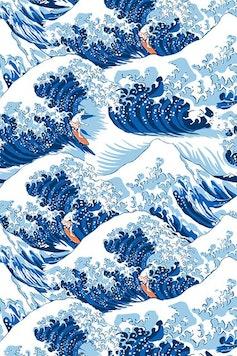 Estampa Camiseta Waves