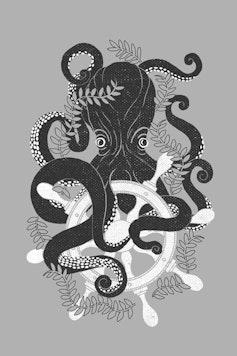Estampa Camiseta Octopus